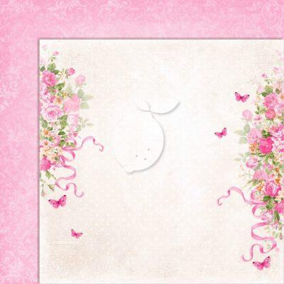 "Лист бумаги коллекции ""Sweet Secrets-04"" (Lemon Craft), 30,5х30,5 см"