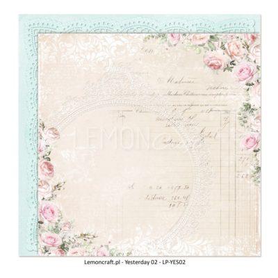 "Лист бумаги коллекции ""Yesterday-02"" (Lemon Craft), 30,5х30,5 см"