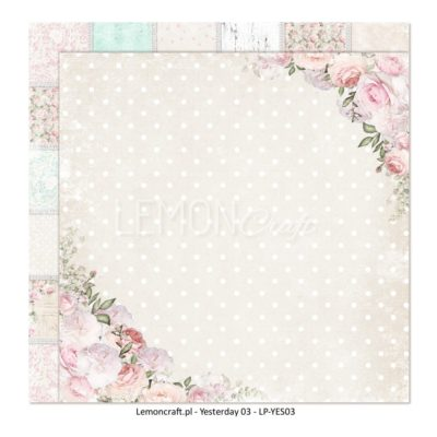 "Лист бумаги коллекции ""Yesterday-03"" (Lemon Craft), 30,5х30,5 см"