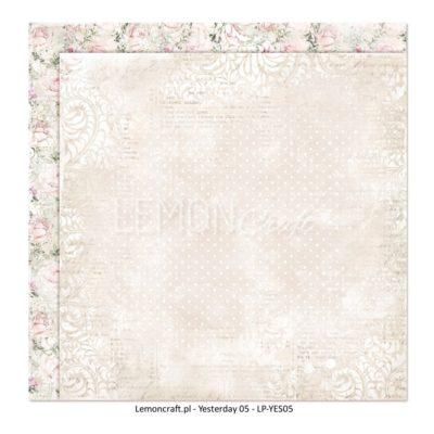"Лист бумаги коллекции ""Yesterday-05"" (Lemon Craft), 30,5х30,5 см"