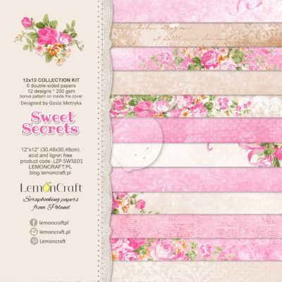 "Набор бумаги коллекции ""Sweet Secrets"" (Lemon Craft), 6 л, 30,5х30,5 см"