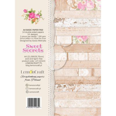 """Набор бумаги """"Базовый"""" коллекции  """"Sweet Secrets"""" (Lemon Craft), 14 л, А4"""