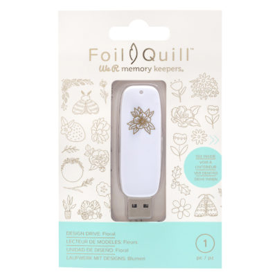 """Флешка с дизайнами """"Floral"""" Foil Quill (We R Memory Keepers)"""