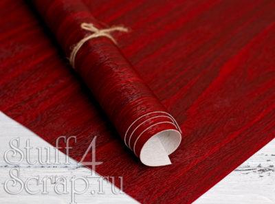 Кожзам «под дерево», красное дерево, 45х35 см