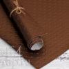 "Кожзам с тиснением ""Пунто-2"", шоколад, 35*45 см"