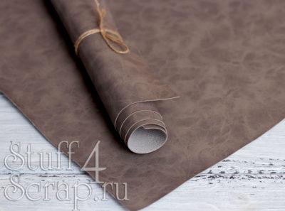 Кожзам «с разводами», серый, 45х35 см