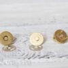 Магнитная кнопка 18 мм, золото, 1 шт.