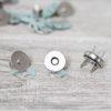 Магнитная кнопка 18 мм, серебро, 1 шт.