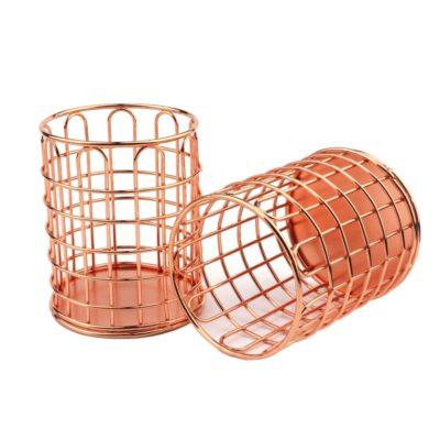Металлический стаканчик, круглый, розовое золото