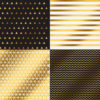 """Бумага сфольгированием «Геометрия», коллекция """"Магический чёрный"""" (Арт Узор) 30х30 см"""