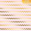 """Бумага сфольгированием «Зигзаги», коллекция """"Розовые облака"""" (Арт Узор) 30х30 см"""