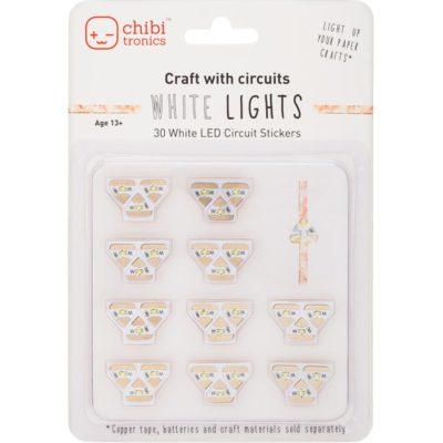Led лампочки Chibitronics для курса Жанны Хуснулиной «Солнце на обложке», 3 шт, белый