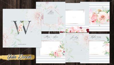 """Печатный блок для альбома """"Свадебный фотоальбом"""", 21х21 см или с длинным корешком"""