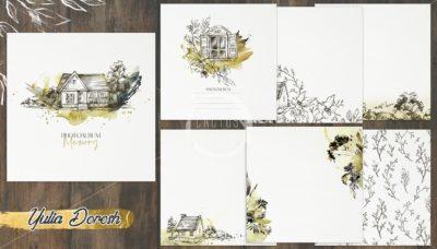 """Печатный блок для альбома """"Memory"""", 21х21 см или с длинным корешком"""