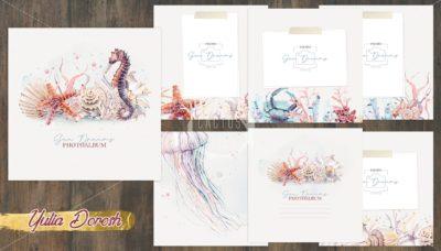 """Печатный блок для альбома """"Sea Dreams"""", 21х21 см или с длинным корешком"""
