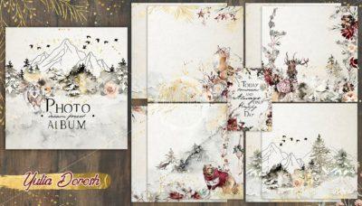 """Печатный блок для альбома """"Dream Forest"""", 21х21 см или с длинным корешком"""