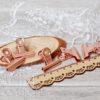 Металлический зажим розовое золото, 31 мм, 1 шт.