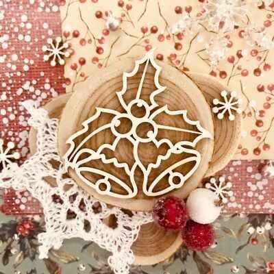 "Чипборд ""Рождественский звон"" (Wood Home), 55*53 мм, 1 шт."
