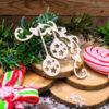 """Чипборд """"Новогодние шарики со звёздочками"""" (Wood Home), 70*70 мм"""