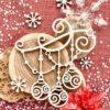 """Чипборд гирлянда """"Новогодние игрушки"""" (Wood Home), 72*8 мм, 1 шт."""