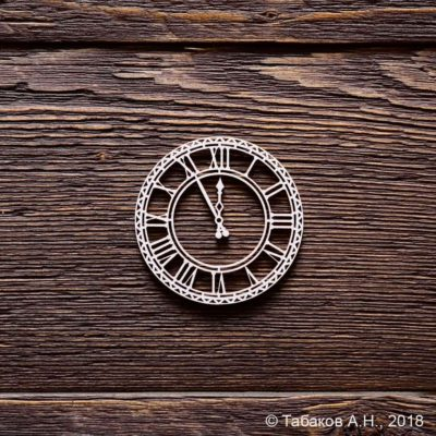 "Чипборд ""Часы"" (Арт Лайн), 1 эл."