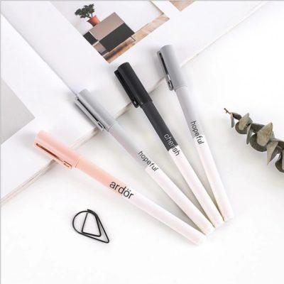 """Ручка гелевая """"Hopeful, Cherish, Ardӧr"""" с черными чернилами, цвет на выбор"""