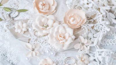 """Декоративные цветы из ткани """"DIAMOND"""" (Pastel Flowers), персиковый, 10 шт"""