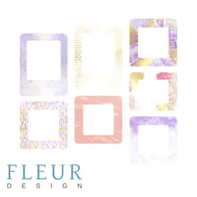 """Набор рамочек """"Радужное утро"""" коллекция """"Pretty violet"""" (Fleur design), 7 элементов"""
