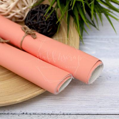 Кожзам матовый, персиковый, 35*45 см