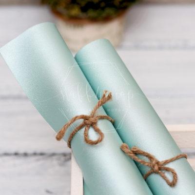 Кожзам перламутровый, нежно голубой, 35*45 см