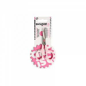 Ножницы для апликаций (SHARPIST), розовые, 11 см.