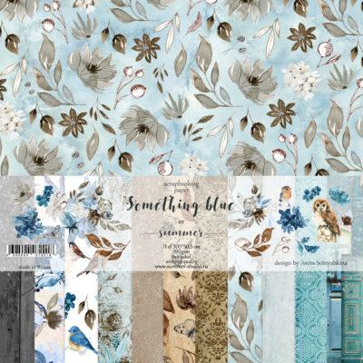 """Набор бумаги коллекции """"Something blue""""(Summer Studio), 11 л, 30,5*30,5 см"""