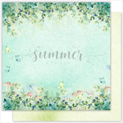 """Лист бумаги """"Berry world"""" коллекции """"Forest story"""" (Summer Studio), 30,5х30,5 см"""