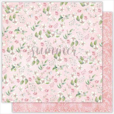 "Лист бумаги ""Flowers dreams"" коллекции ""Forest story"" (Summer Studio), 30,5х30,5 см"