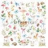 """Лист для вырезания """"Forest"""" коллекции """"Forest story"""" (Summer Studio), 30,5х30,5 см"""