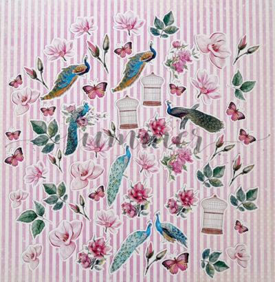 """Высечки """"Bird of paradise"""" коллекции """"Bird of paradise"""" (Summer Studio), 30,5х30,5 см"""