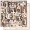 "Лист бумаги ""VINTAGE WEDDING"" коллекции ""VINTAGE WEDDING"" (Summer Studio), 30,5х30,5 см"