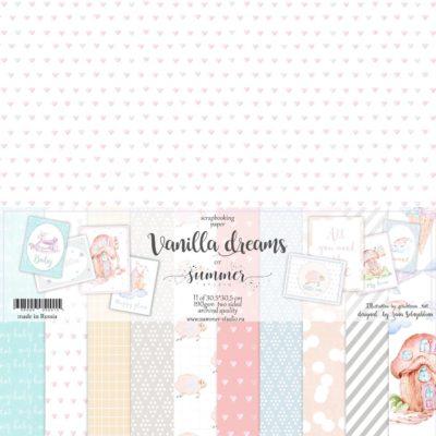"""Набор бумаги коллекции """"VANILLA DREAMS"""" (Summer Studio), 11 л, 30,5*30,5 см"""