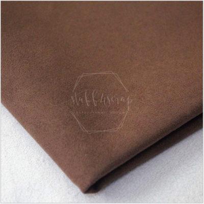 Искусственная замша односторонняя плотная, шоколадный, не тянется, 35*50 см