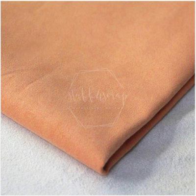 Искусственная замша односторонняя плотная, персиковый, не тянется, 35*50 см