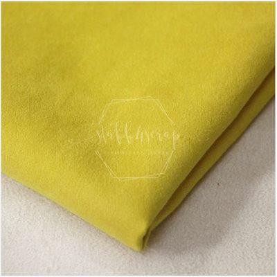 Искусственная замша односторонняя плотная, лимонный, не тянется, 35*50 см