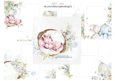 """Печатный блок для альбома (Baby book) """"Твой первый фотоальбом"""" для девочки, от 0 до 7 лет, 21х21 см"""