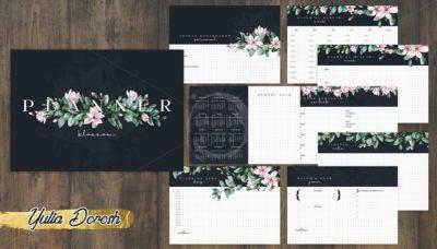 """Печатный блок для настольного планера """"Blossom"""", от 60 листов A5, 130 г/м2. см описание"""