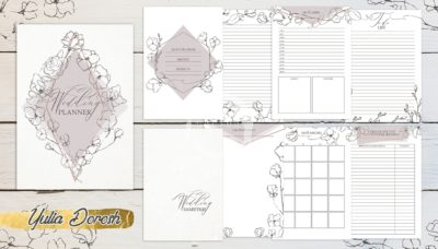 """Печатный блок для блокнота/планера """"Свадебный планер"""", от 60 листов А5, 130 г/м2. см описание"""