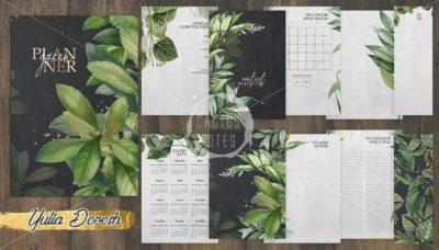 """Печатный блок для блокнота/планера """"Green"""", от 60 листов А5, 130 г/м2. см описание"""