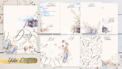"""Печатный блок для блокнота/планера """"Diary Travel"""", от 60 листов А5, 130 г/м2. см описание"""