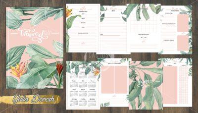 """Печатный блок для блокнота/планера """"Tropical"""", от 60 листов А5, 130 г/м2. см описание"""