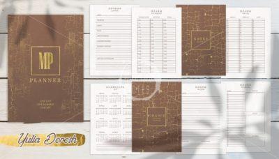 """Печатный блок для блокнота/планера мужской """"Terra"""", от 60 листов А5, 130 г/м2. см описание"""