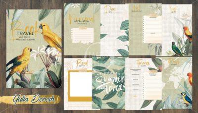 """Печатный блок для Travel book """"Yellow bird"""", от 60 листов А5, 130 г/м2. см описание"""