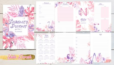 """Печатный блок для блокнота/планера """"Summer dreams"""", от 60 листов А5, 130 г/м2. см описание"""
